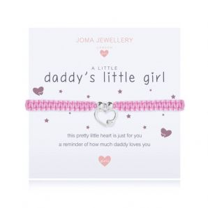 Joma Jewellery A little DADDY's LITTLE GIRL Childs Adjustable Threaded Bracelet